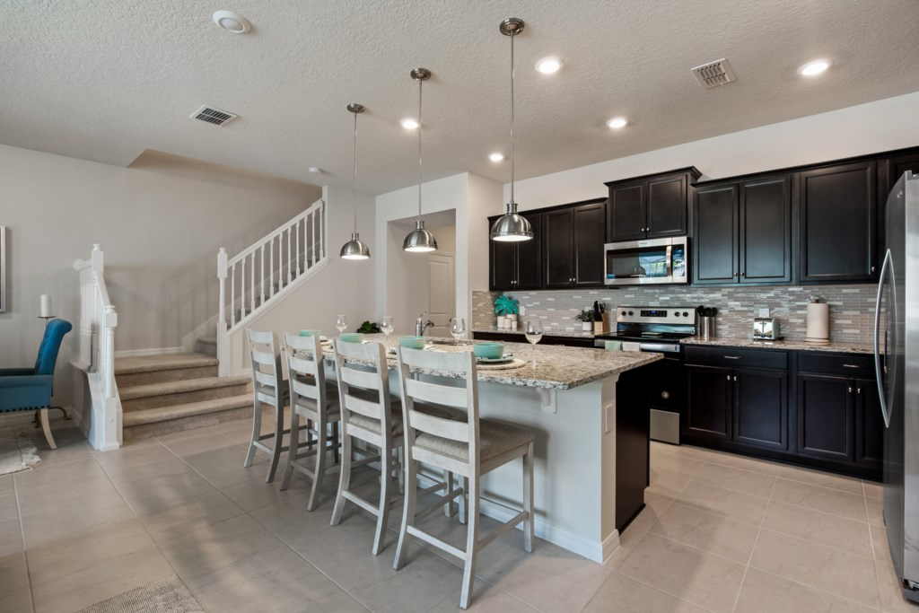 View 2 of Fantastic Kitchen Area with Barstool Seating