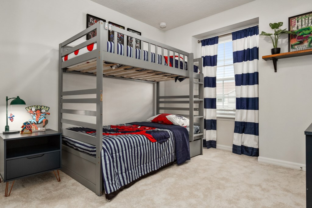 Awesome Spiderman Themed Bunk Bed with Flat Screen TV