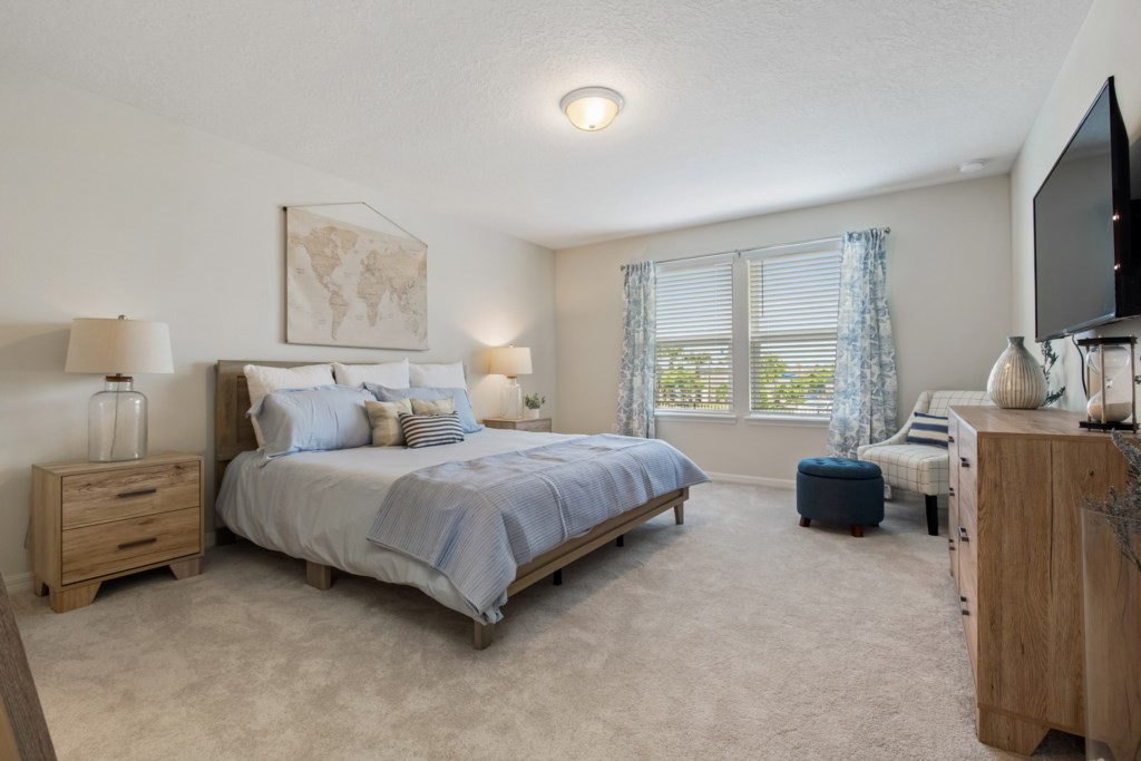Gorgeous King Bedroom with Flat Screen TV
