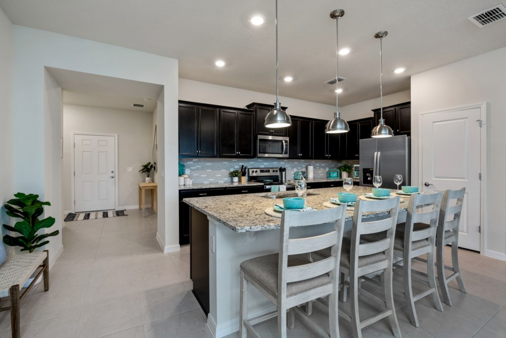 Fantastic Kitchen Area with Barstool Seating