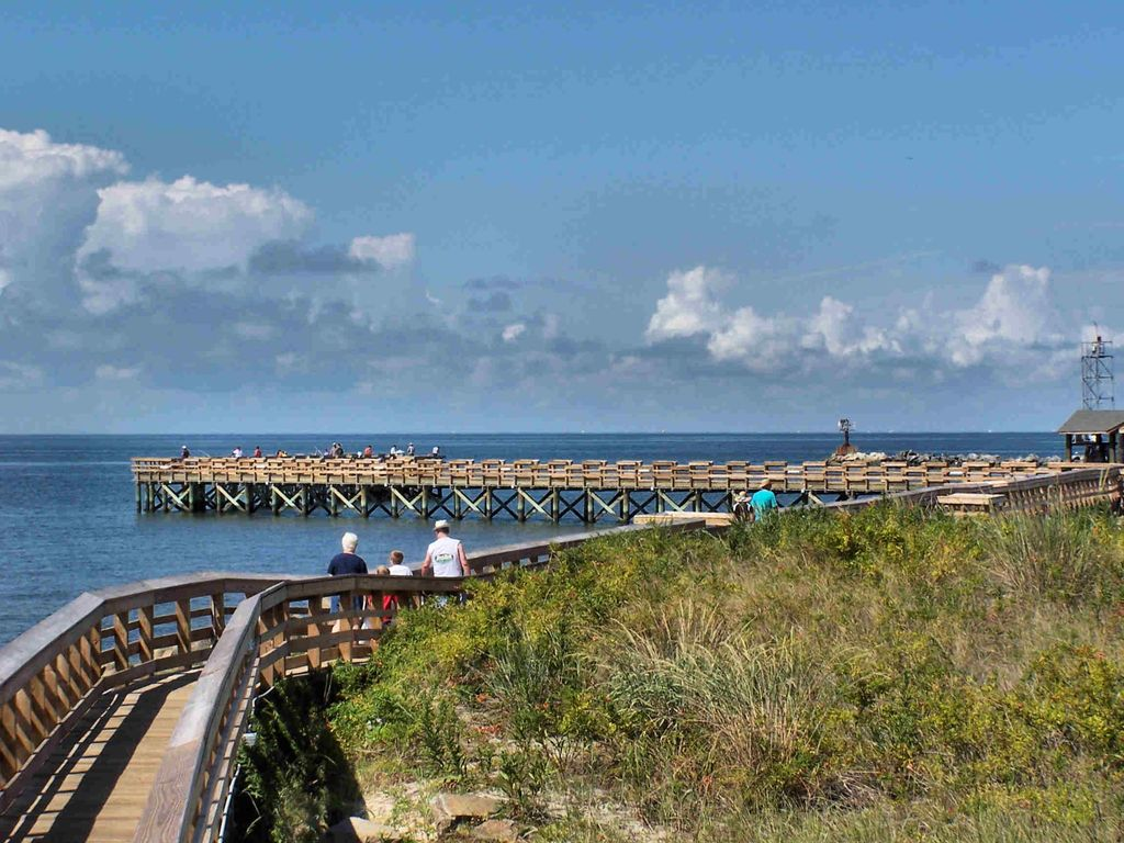 Cape Charles Pier. Enjoy the nightly sunsets and try your luck at pier fishing!