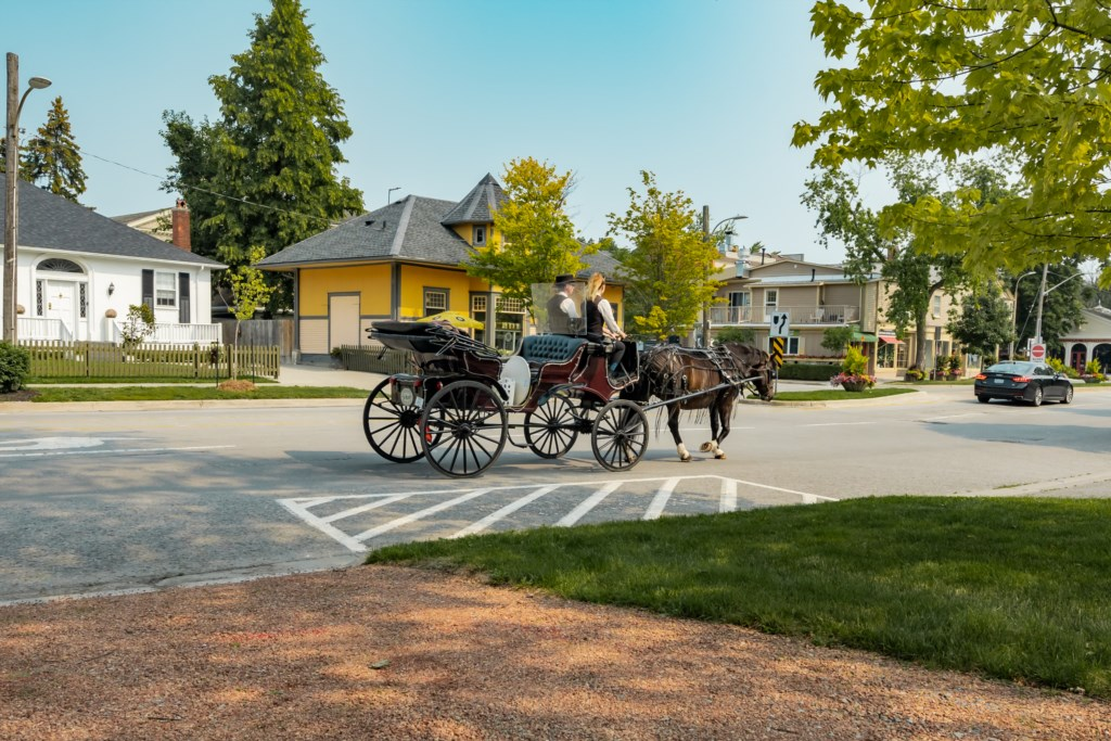 Horse and carriages pass by through out the day - Summerhill House - Niagara-on-the-Lake