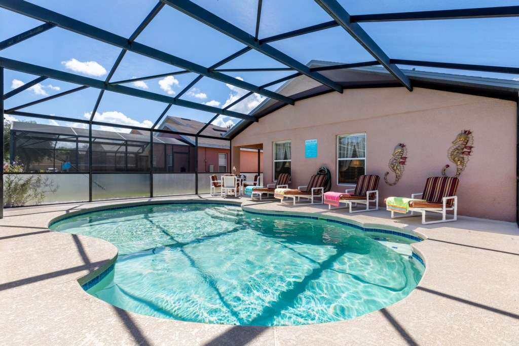 Sunny Pool Deck with Private Pool