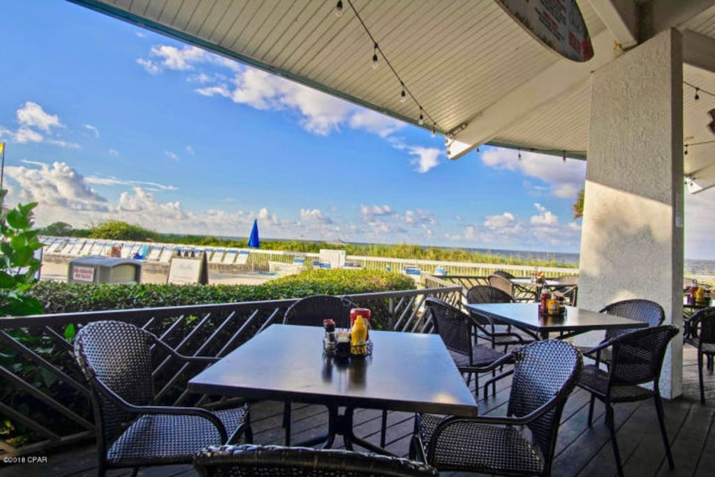 Ocean's Restaurant - dine outside and enjoy the view.