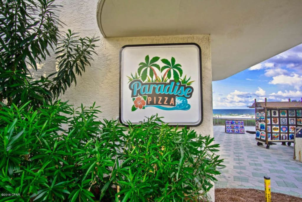 Pizza Shop on the gulf Side  - check it out, it's really good.