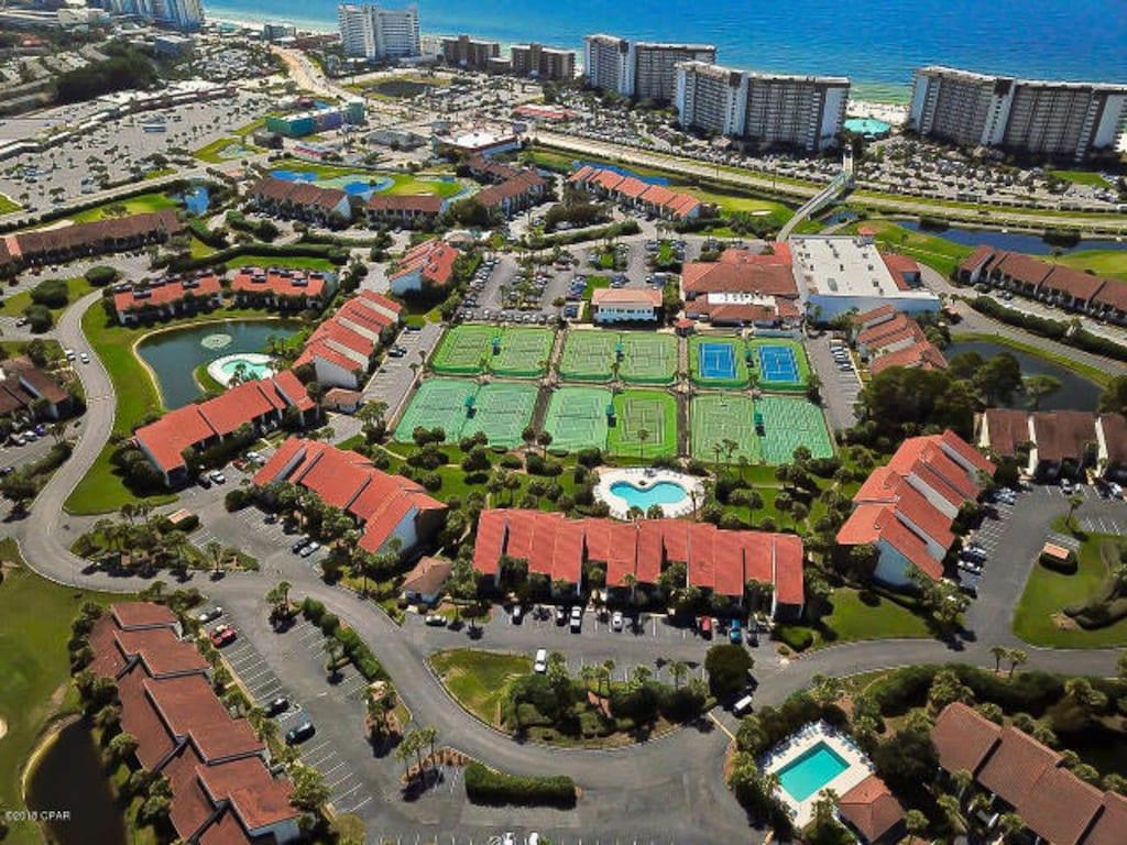 Arial Pic of Edgewater Beach Resort Villa side