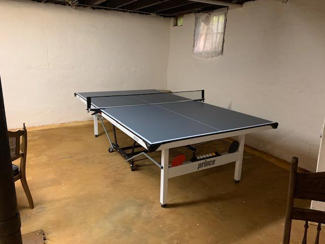Ping Pong table in basement