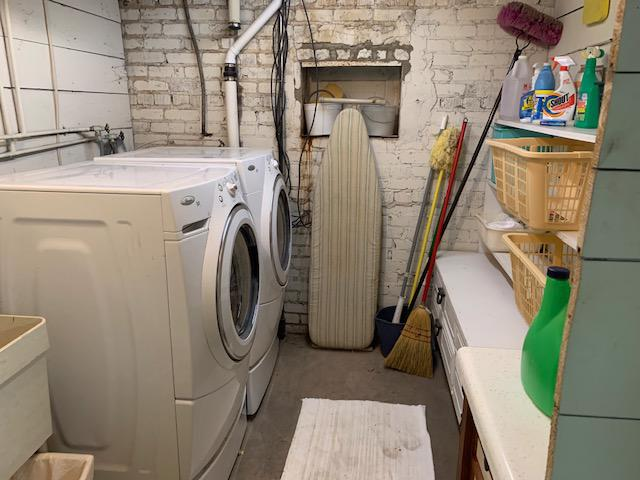 Washer and Dryer downstairs