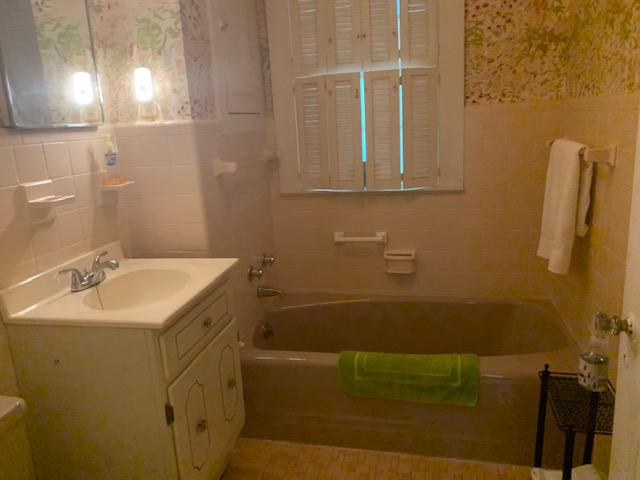 Shared Bath across  hall from bedrooms 1 and 2