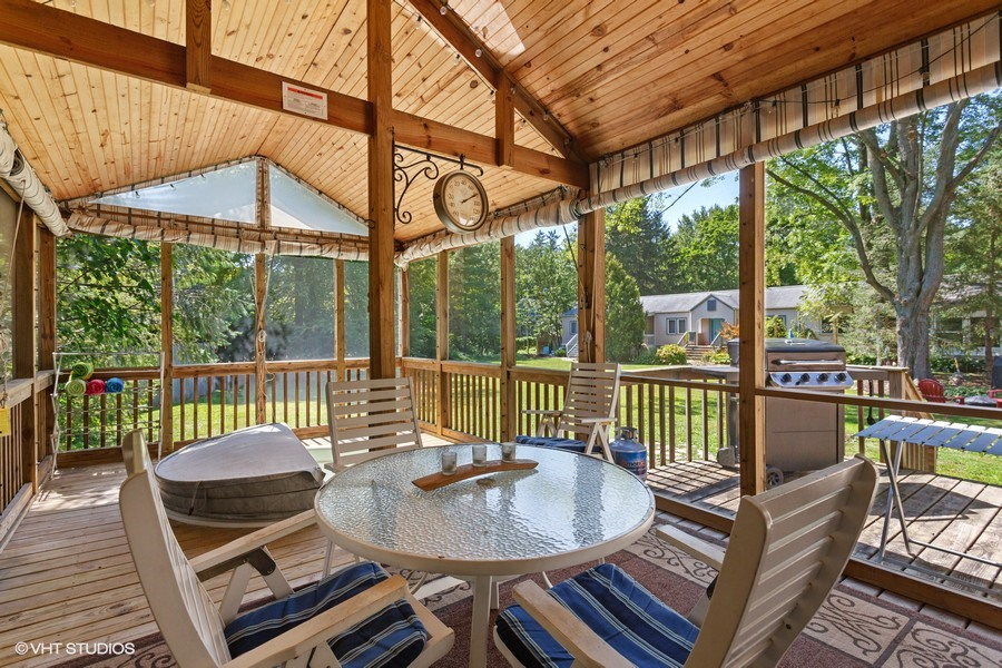 Screened-In Porch with Hot Tub