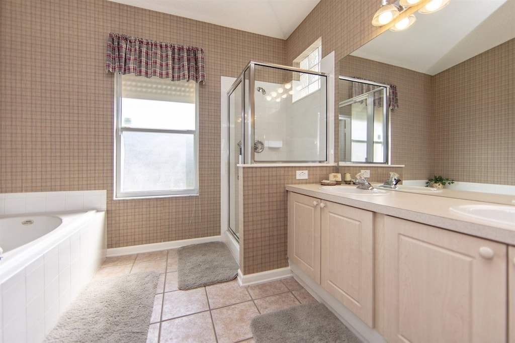 Master en suite bath with added support bars
