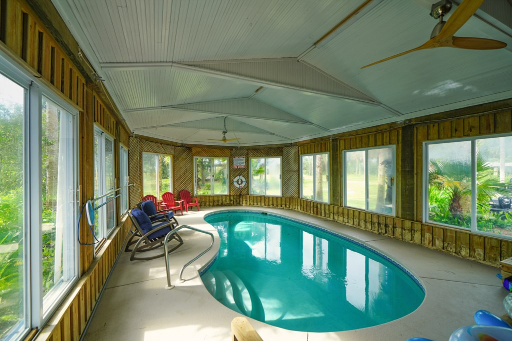 Indoor pool and pool heat available for only $35 per day