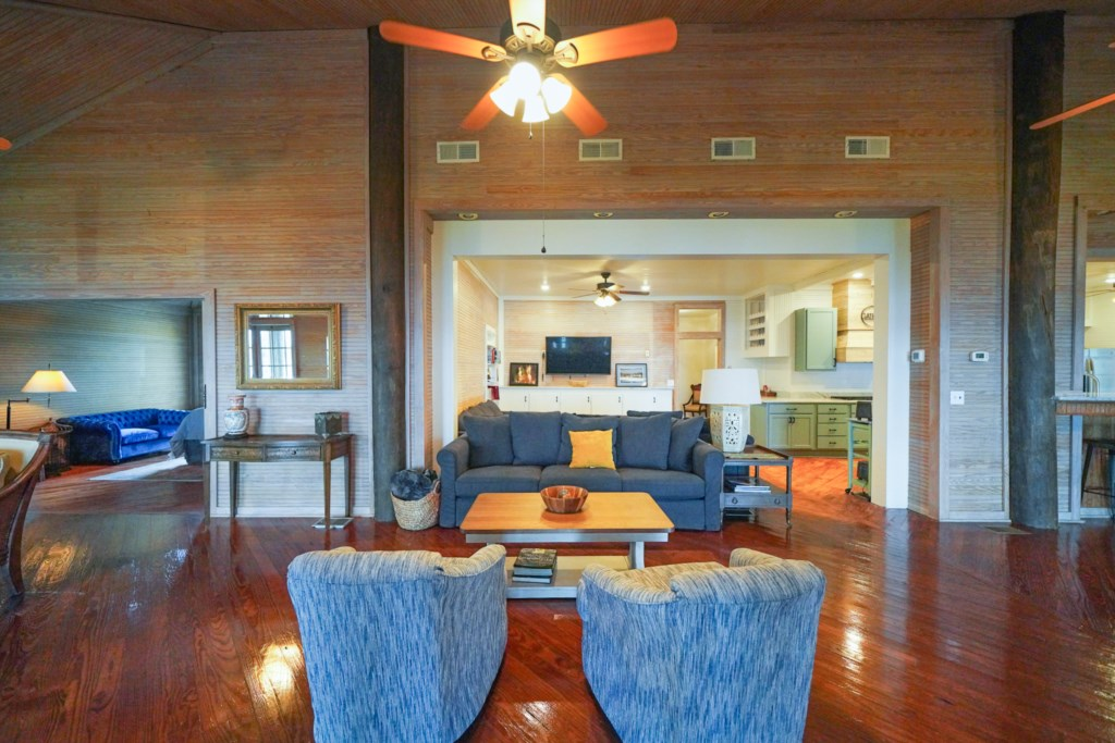 Multiple living areas provide everyone room to relax