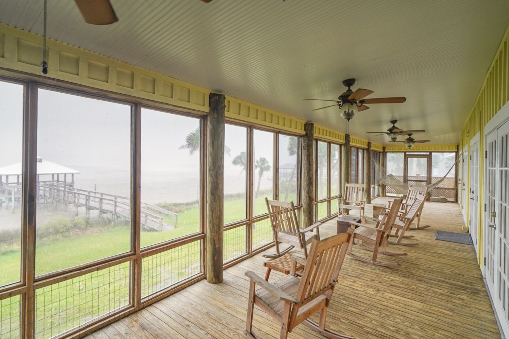 This is the best location to listen to the rain, watch the dolphins play, and feel the breeze blow by