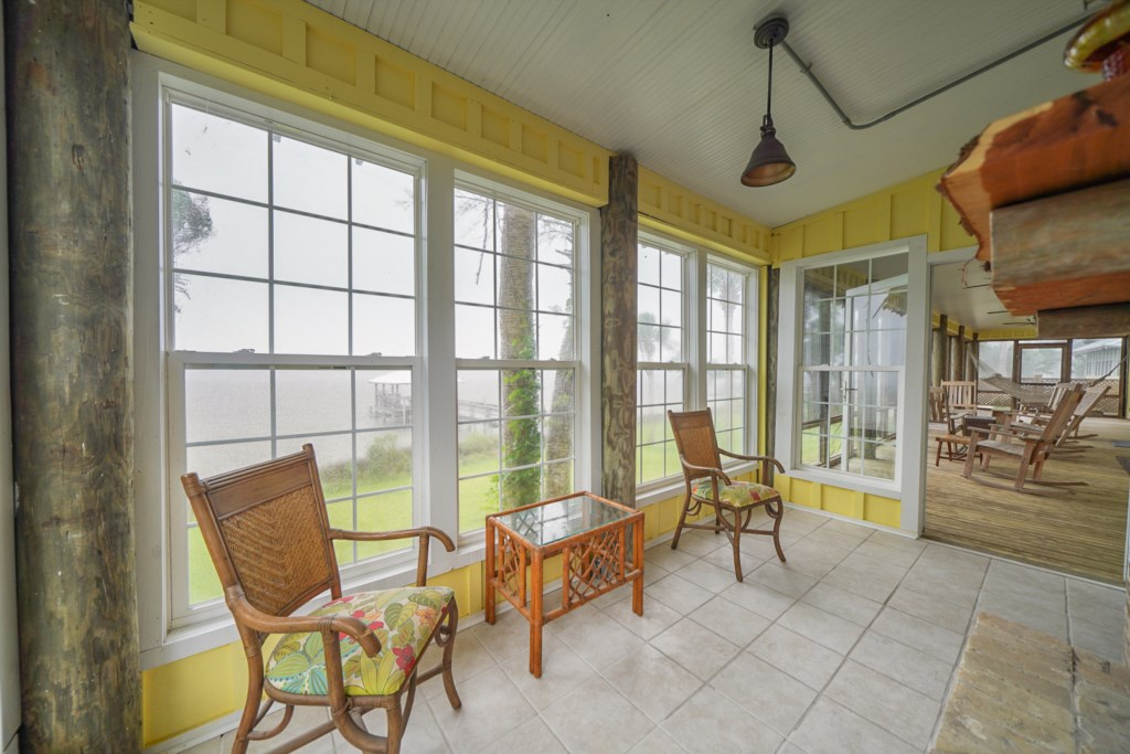 With ample options for alfresco dining on one of the covered, screened in porches; Lagoon views pair well with any meal