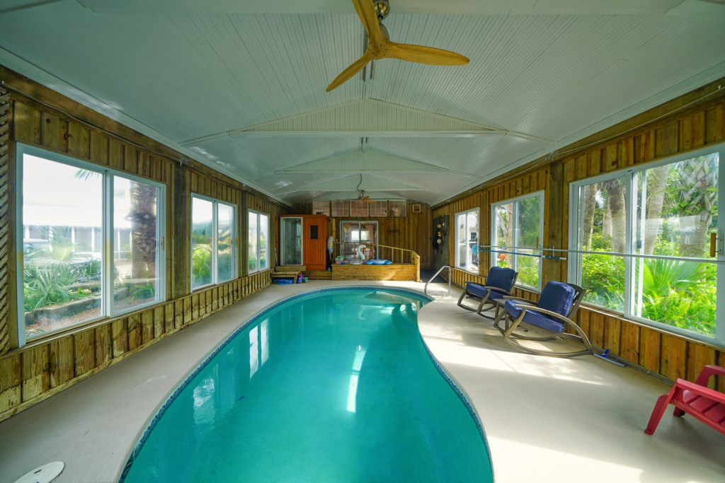 Indoor pool with heat available for only $35 daily