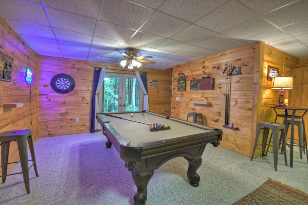 Pool Table in Game Room on Terrace Level