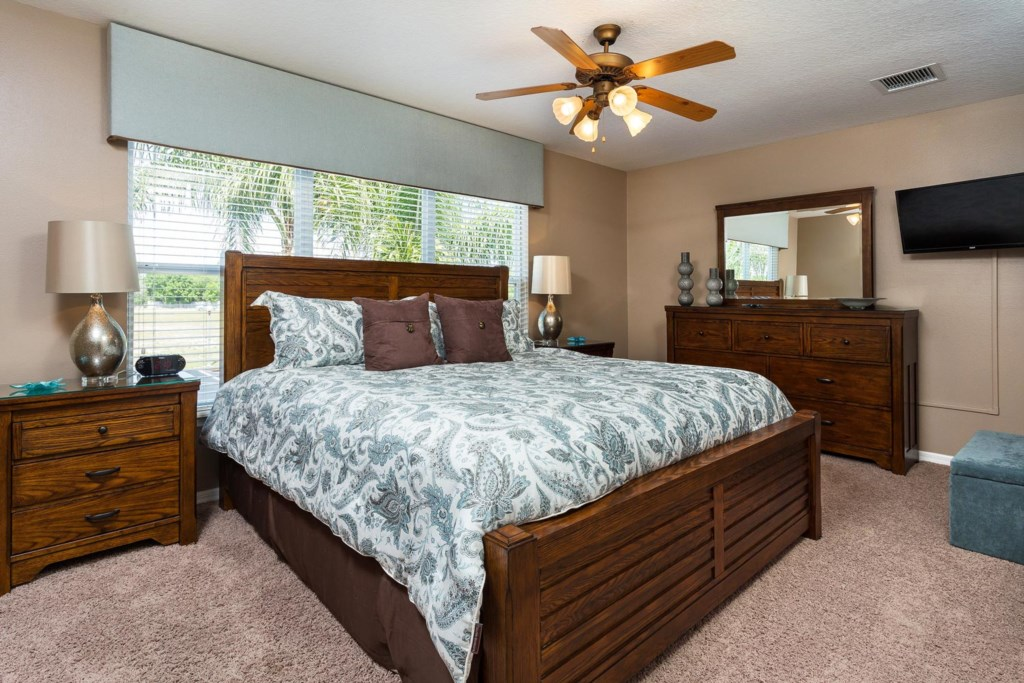 Tranquil upstairs bedroom 3 is a great place to catch up on rest