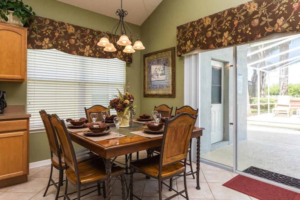 Catch up with family and friends in the dining area