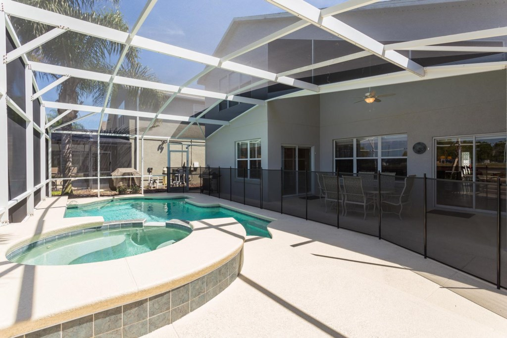 Cool off in the north-facing private pool and spa