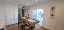 Bar top dining with seating for 6
