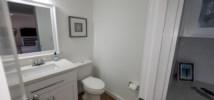 Half bathroom located on main level