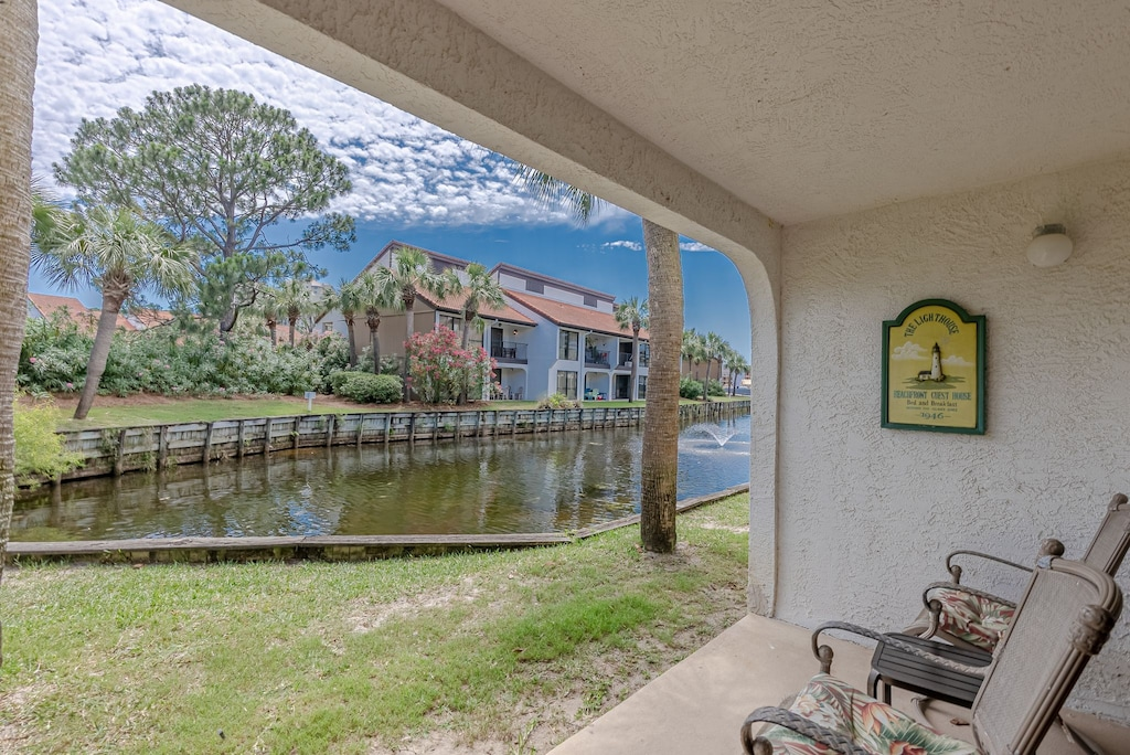Back Patio Area: check out the turtles in the canal