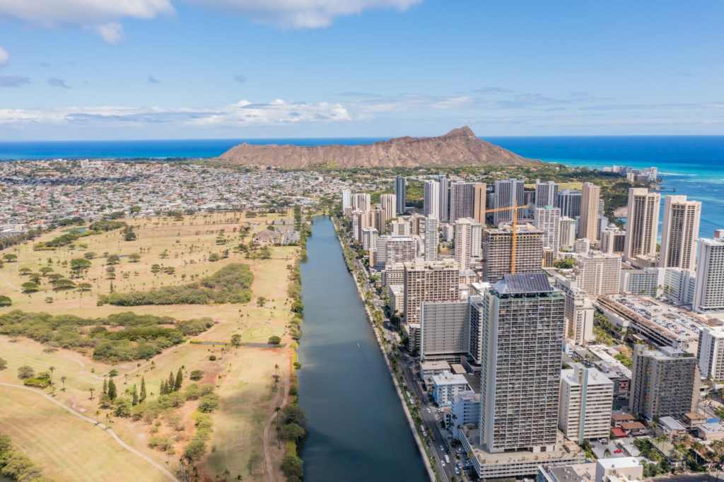 Aerial Shot of Waikiki/Diamond Head - Unit Not Shown in Picture