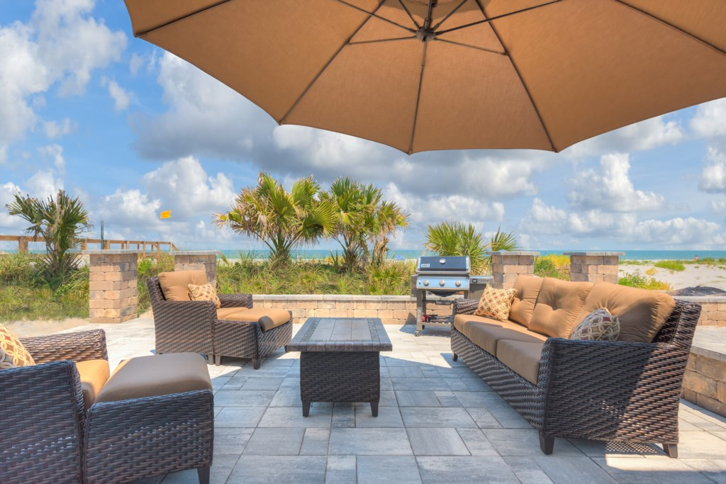 Happy Hour Steps from the Berach on your own Private Patio
