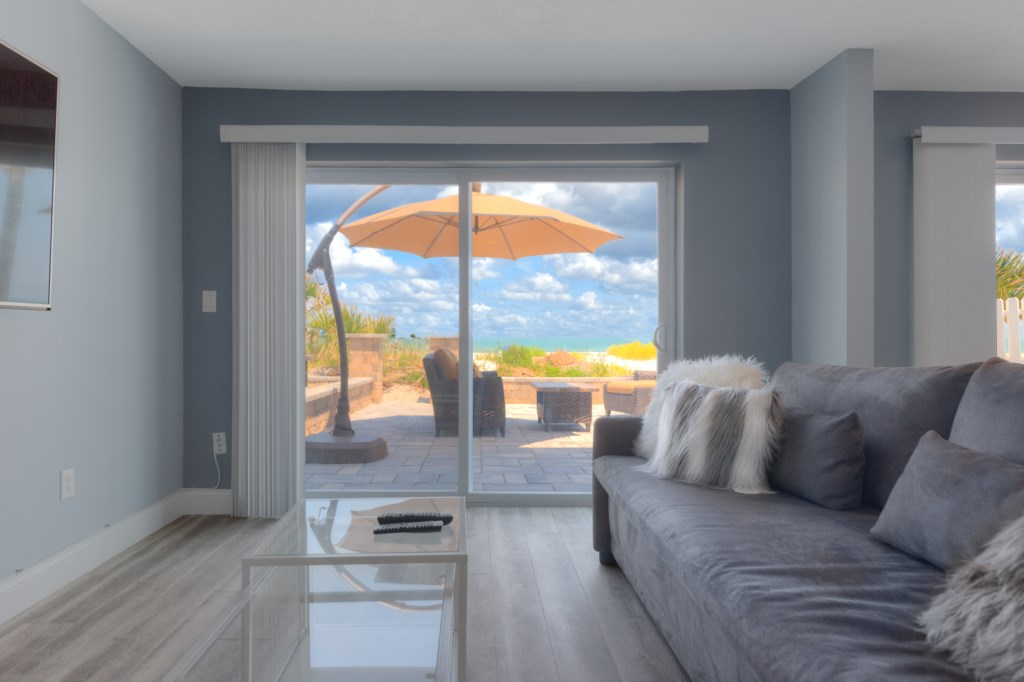 Natural Light from the Oceanfront Patio