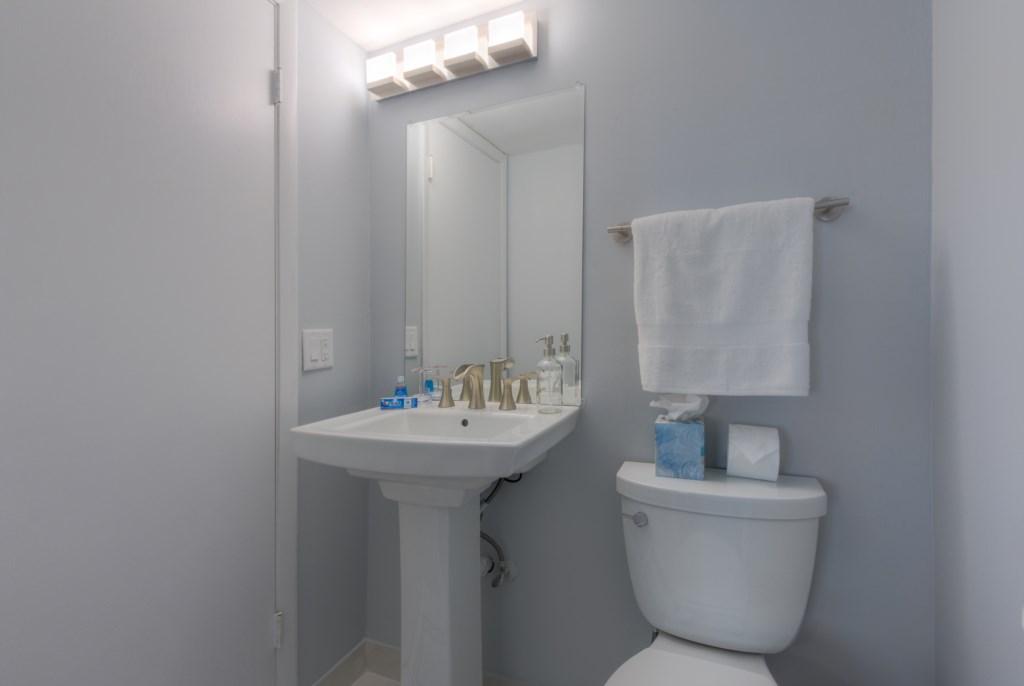 Upgraded Half Bath Downstairs