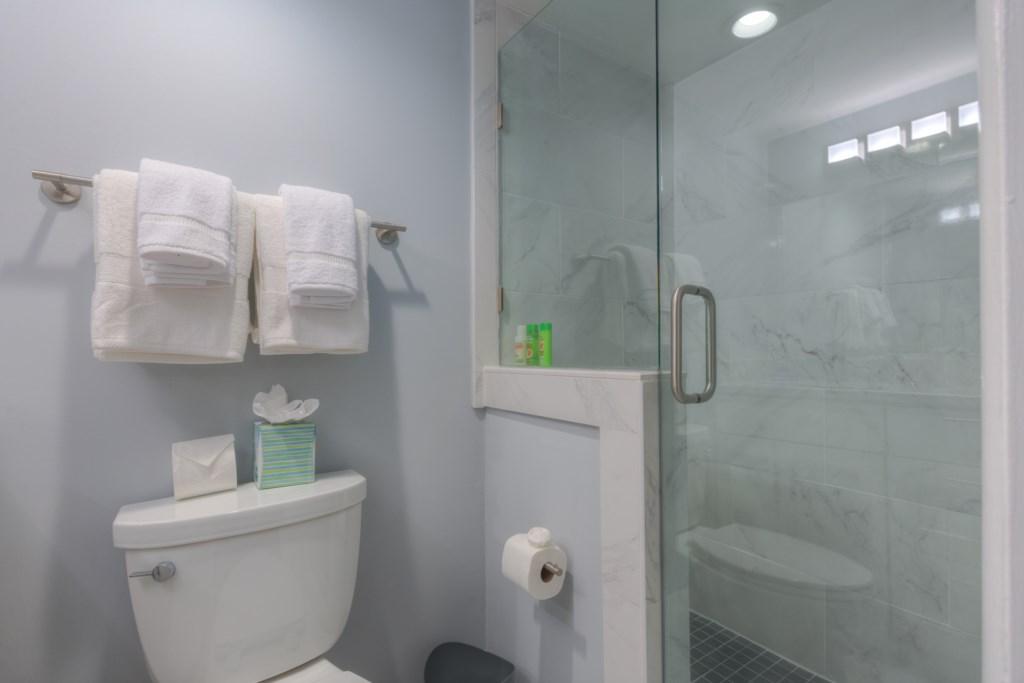Sparkling Clean White Bathrooms