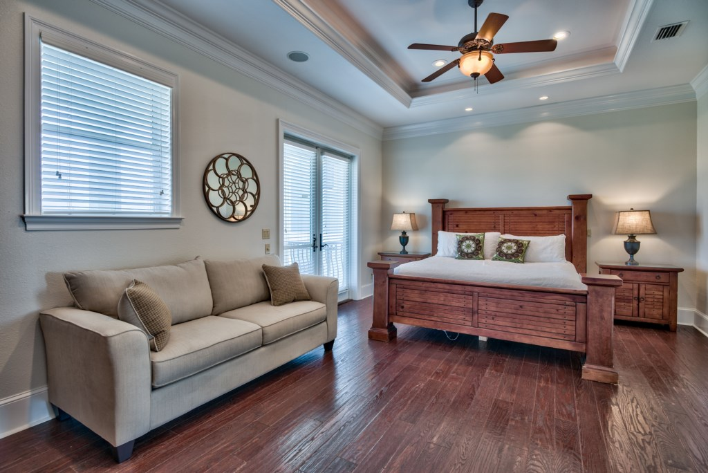 Second 3rd Floor Master Suite with seating area and Balcony access