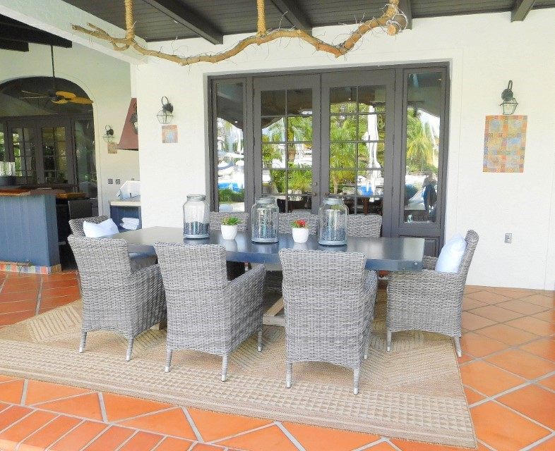 FORMAL OUTDOOR DINING AREA OFF KITCHEN
