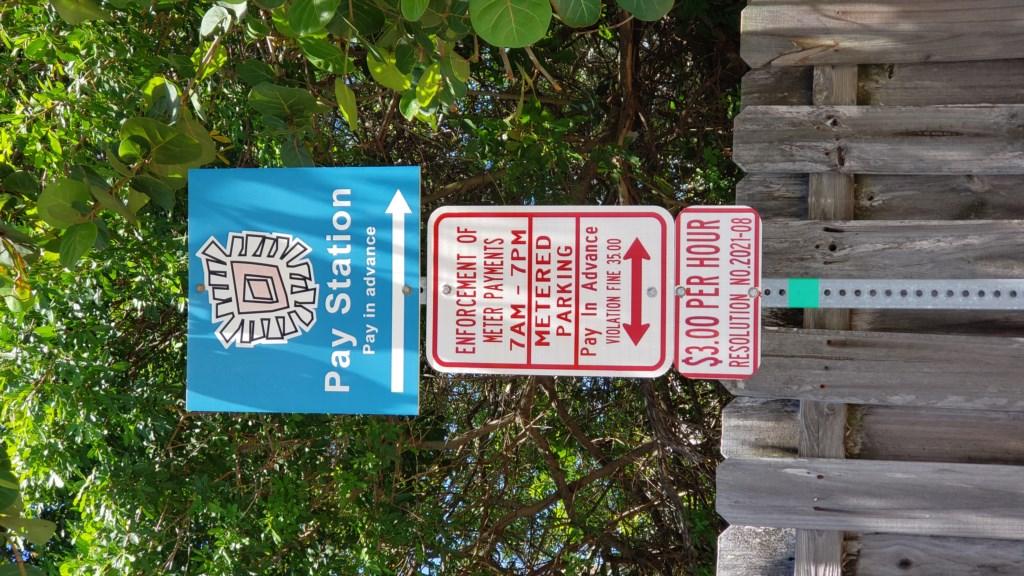 Parking Information at Beach