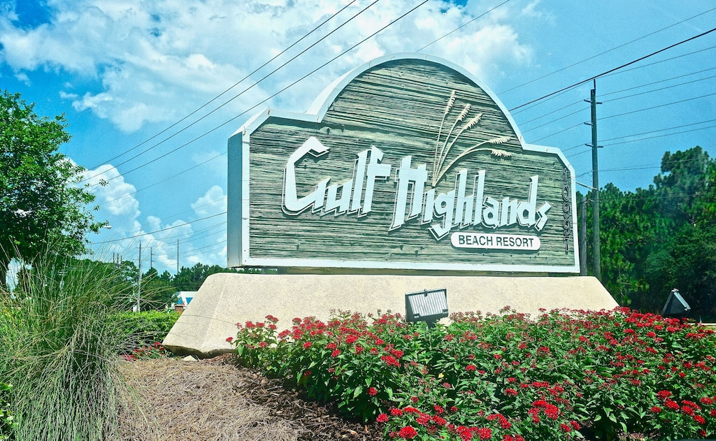 Gulf Highlands is a gated community - across the street from the gulf