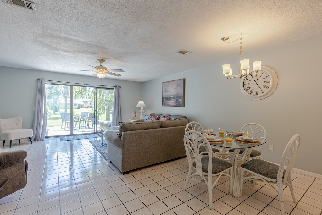 Living Room, Dining Room & Kitchen - are all open