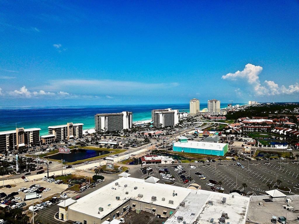Resort is across the street from the gulf - short 5 min walk