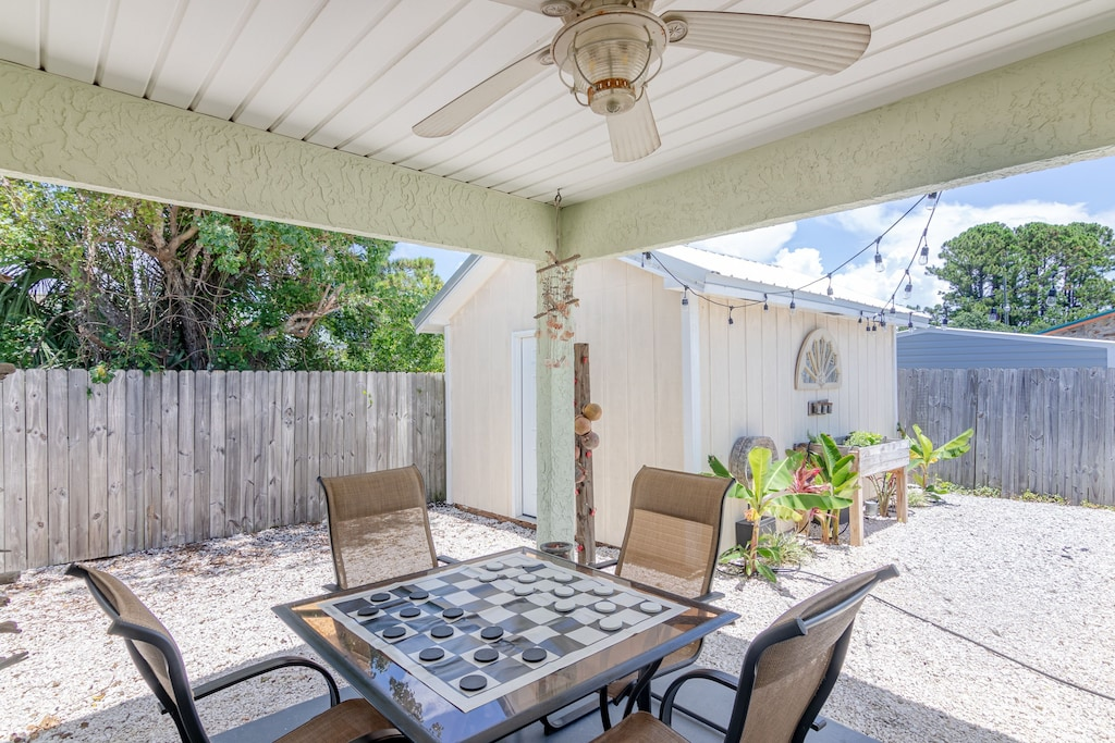 Covered Patio in back yard