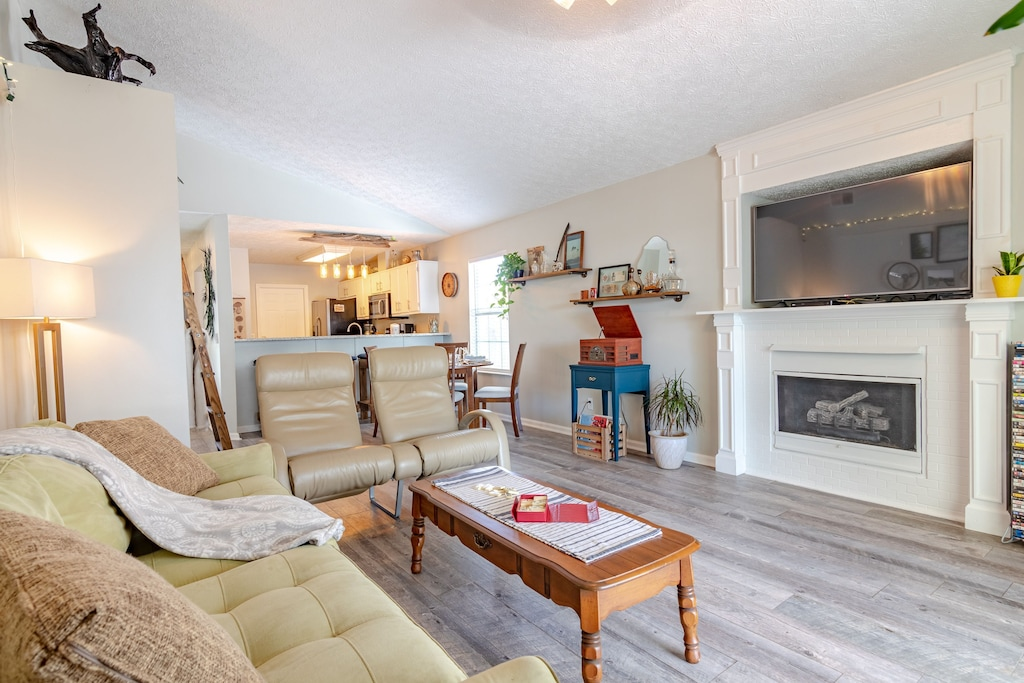 Living room - spacious and plenty of room for everyone.