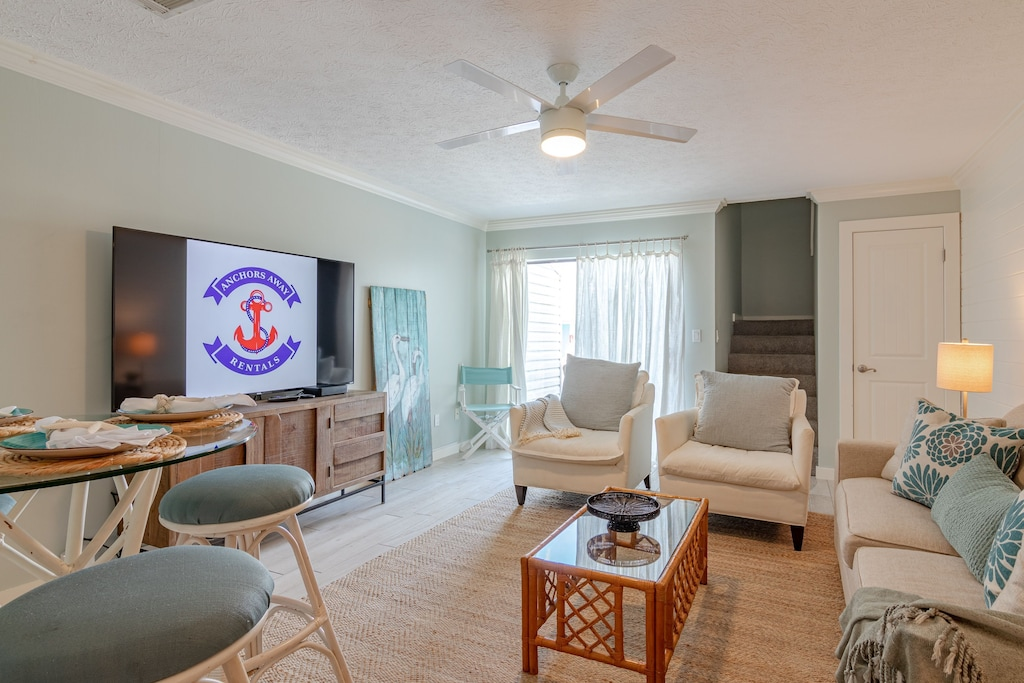 Living Room offers a 70 inch tv