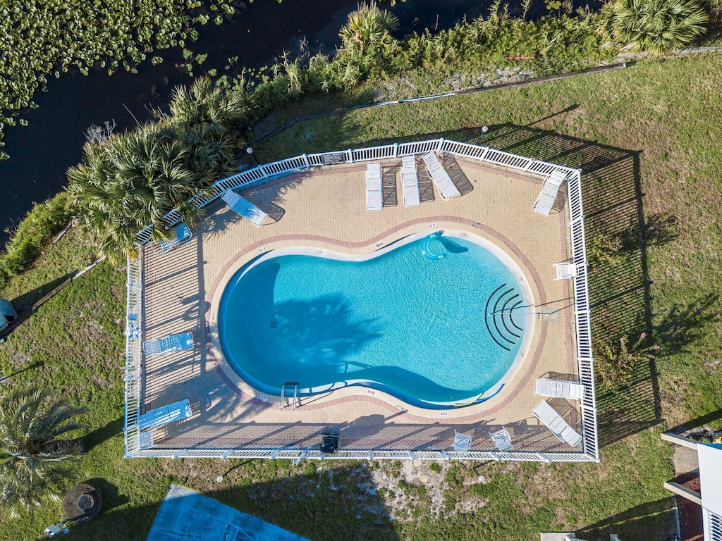 Arial View of the pool