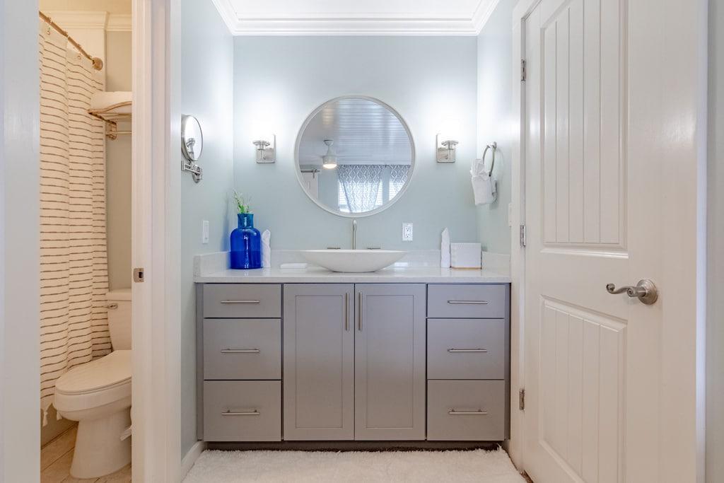 Bathroom vanity in master