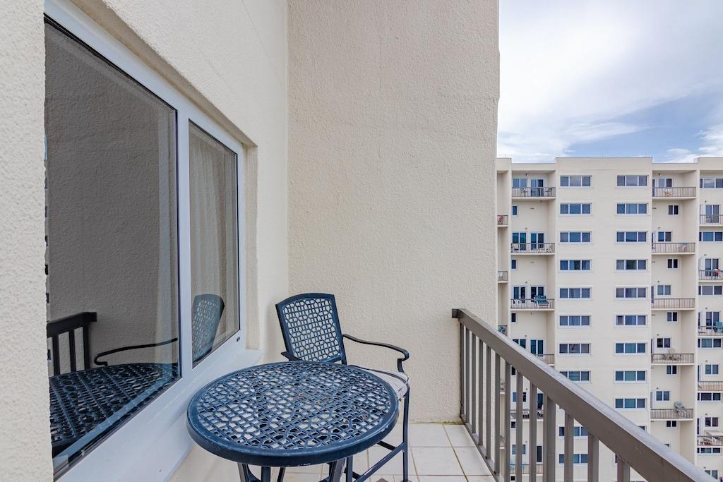 Balcony off Living Room  overlooks the Gulf