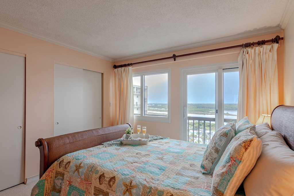 Master offers a Queen Bed, Private balcony & Private Bath