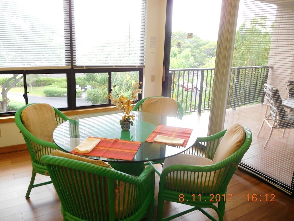 open views from dining table and lanai