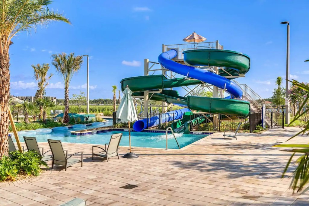 Water slide and park