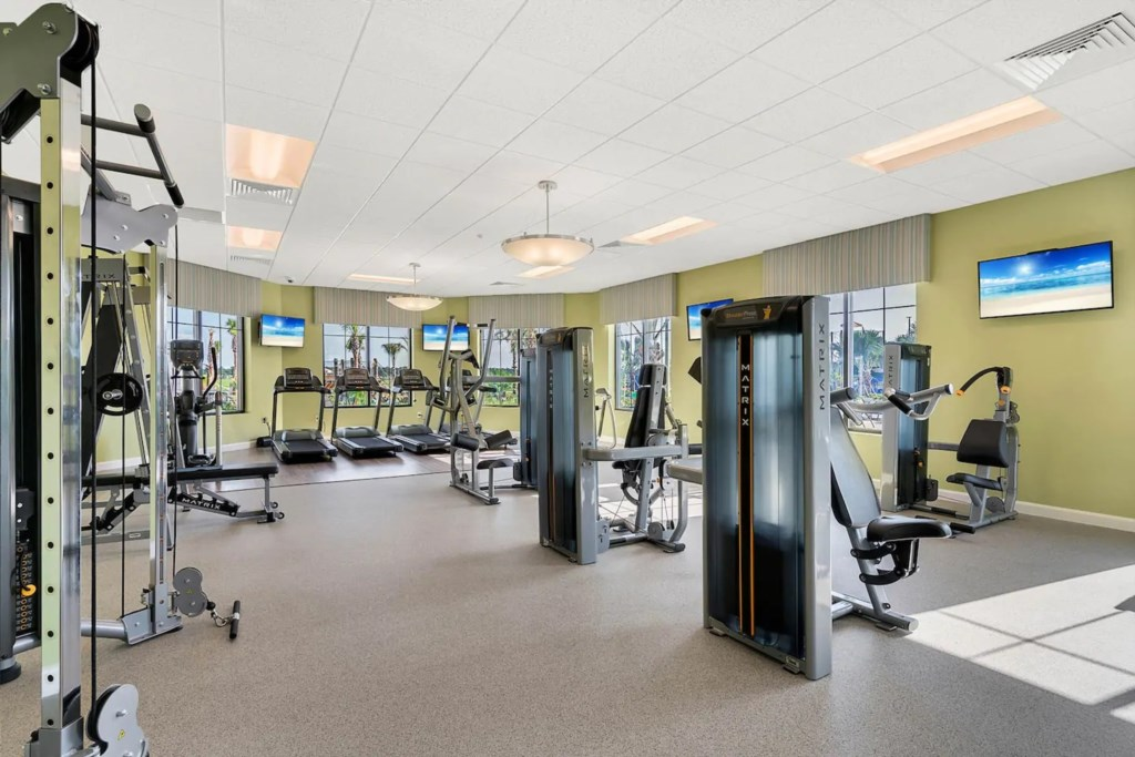 The clubhouse with fitness center