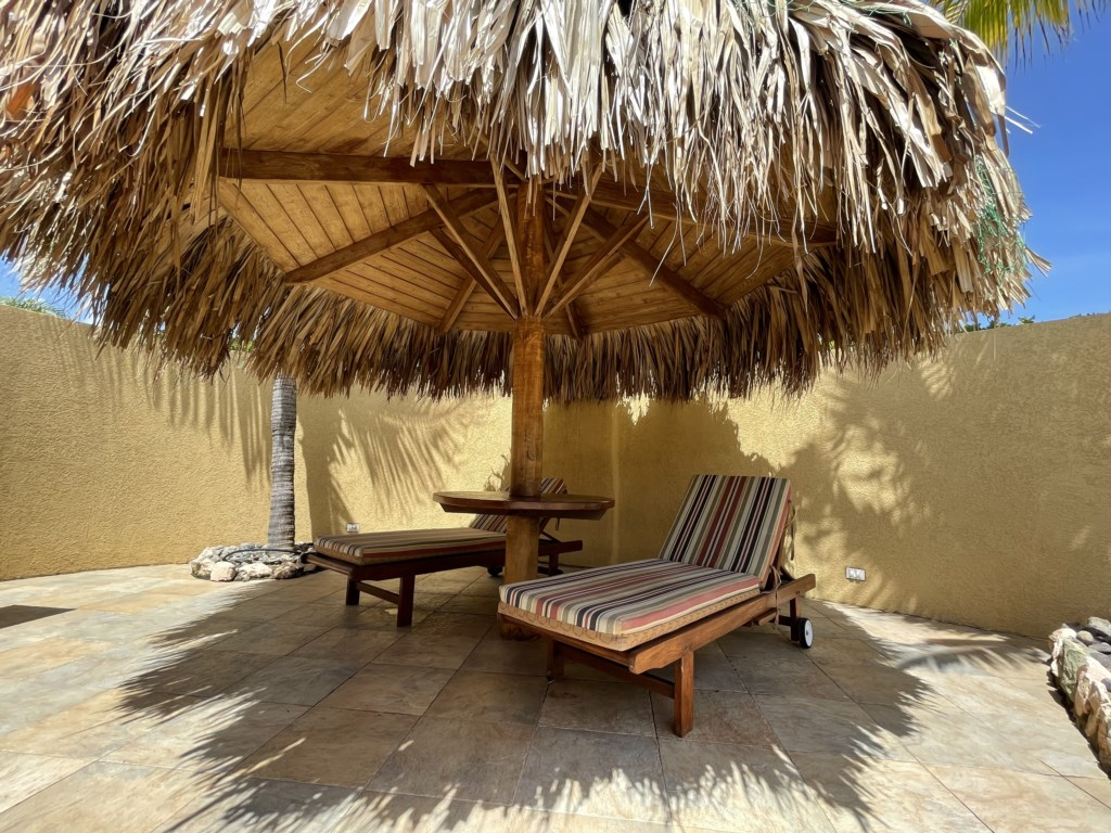 Private palapa next to the swimming pool