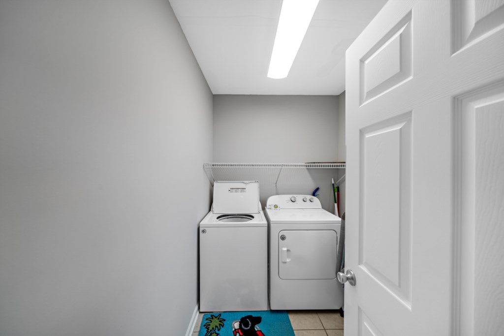 Laundry is off the kitchen